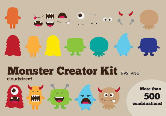 Monster Creator Kit Clipart