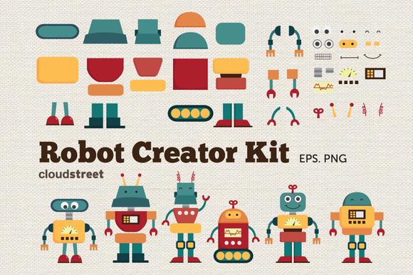 Robot Creator Kit Clipart