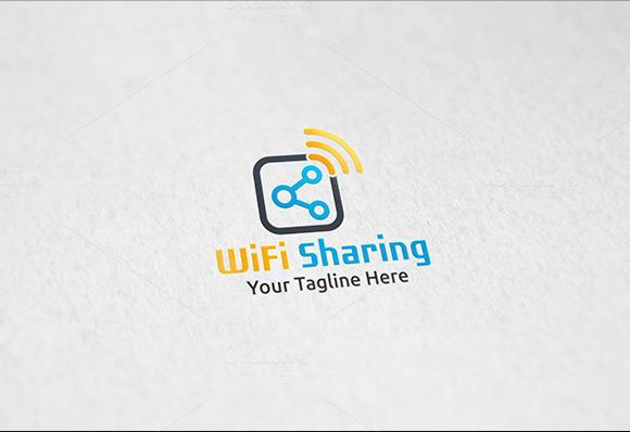 WiFi Sharing Logo Template