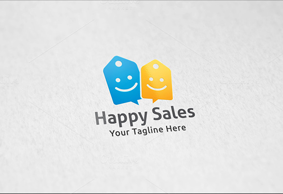 Happy Deals Logo Template