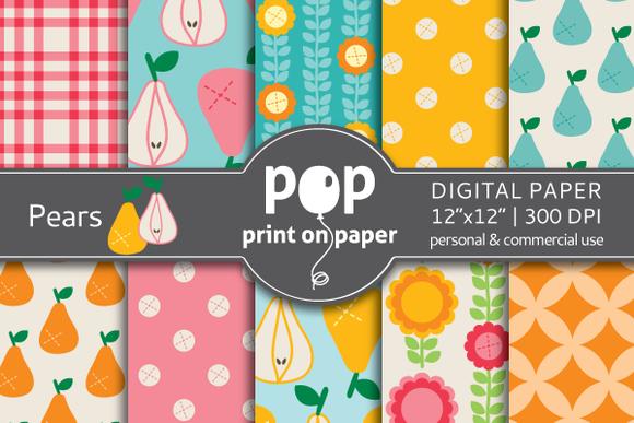 Pears Jpg Digital Paper