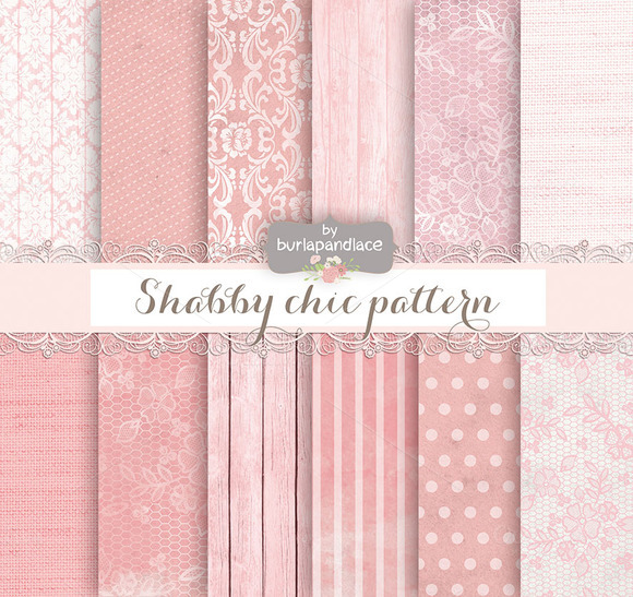 Shabby Chic Kraft Digital Paper
