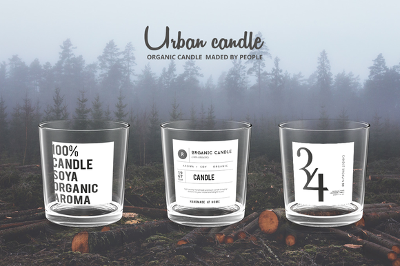13 Organic Candle Label Collection