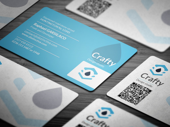 Blue Light Corporate Business Card