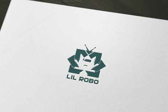 Little Robot Logo Template