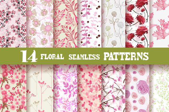 14 Pink Floral Patterns