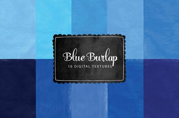 Burlap Textures Blue Backgrounds