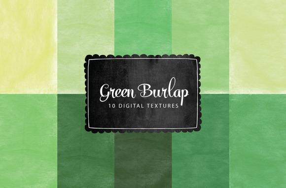 Green Burlap Texture