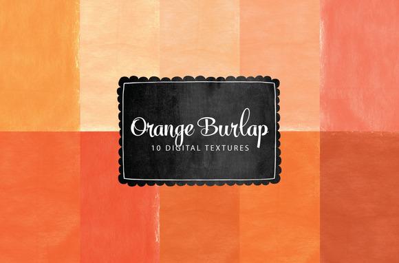 Orange Burlap Textures