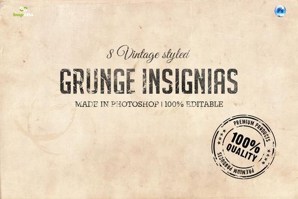 8 Vintage Insignias