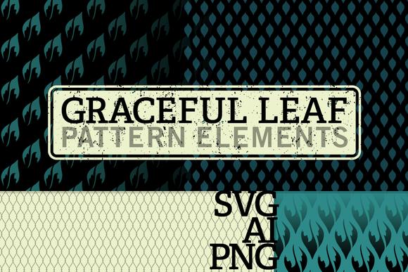 Vector Bitmap Graceful Leaf Patterns