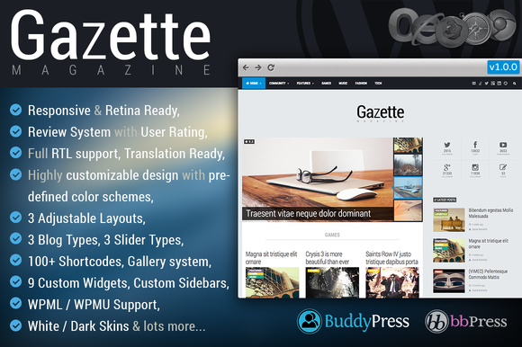 Gazette Magazine WP Community Theme