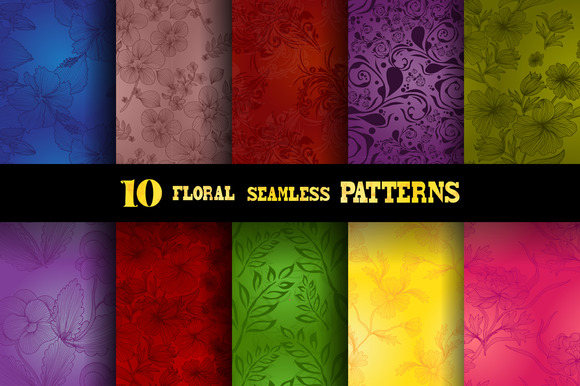 10 Bright Floral Patterns