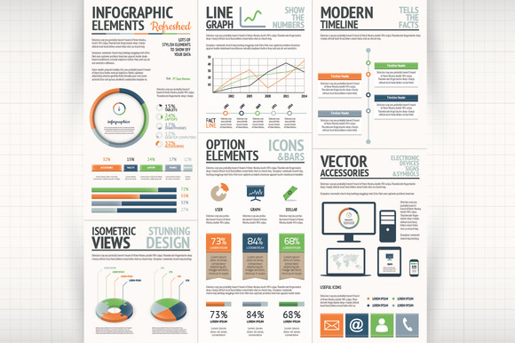 Fresh Infographic Vector Elements