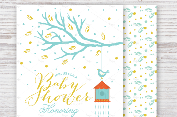 Baby Shower Invitation With Tree