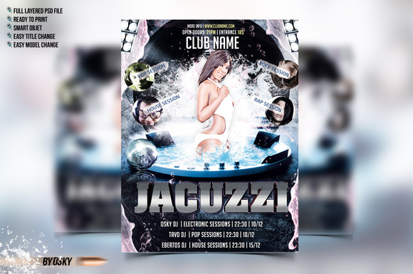Jacuzzi Party Flyer