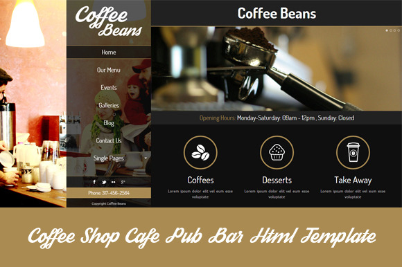 Coffee Beans-Cafe Bar HTML Template