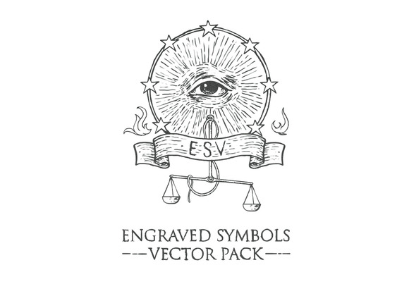 Engraved Symbols Vector Pack
