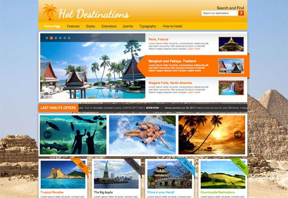 Hot Destinations For Joomla