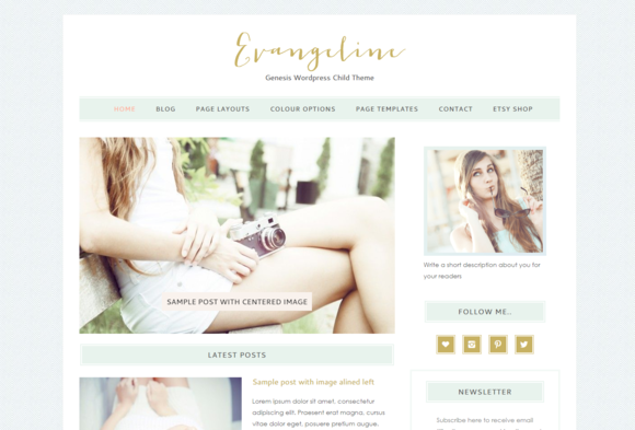 Evangeline Genesis Wordpress Theme