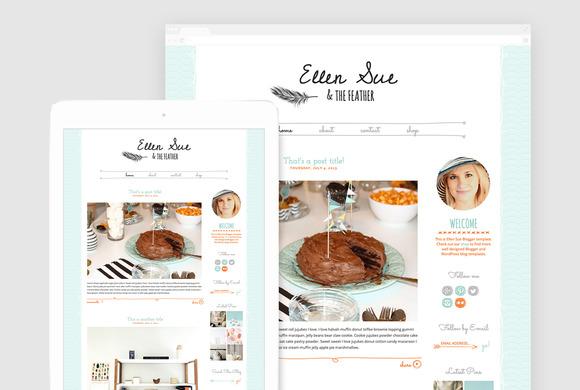 Cute WordPress Blog Theme Ellen