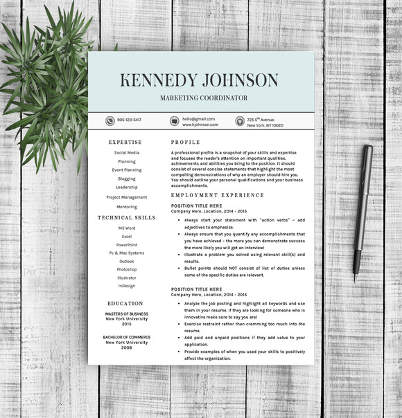 Resume Template Kennedy