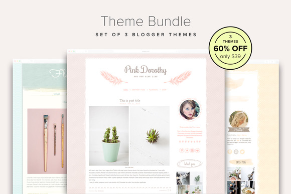 60% OFF Blogger Theme Bundle