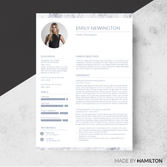 Marble Resume Template Business Card