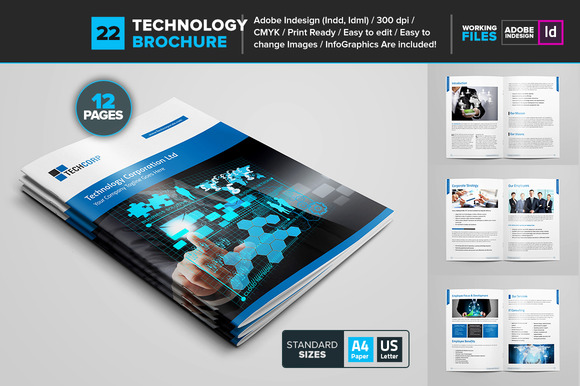 Business brochure new technology gfx designtube for Technology brochure templates