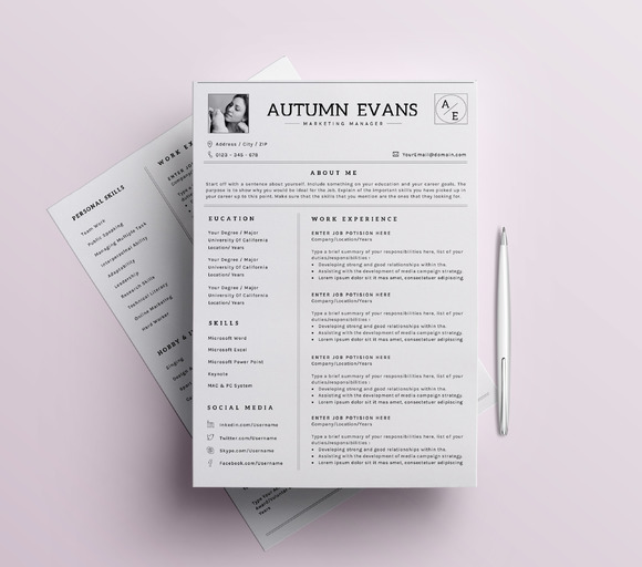 Professional Resume CV Template-6