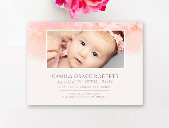 Birth announcement designs templates free vector for Online baby announcement templates