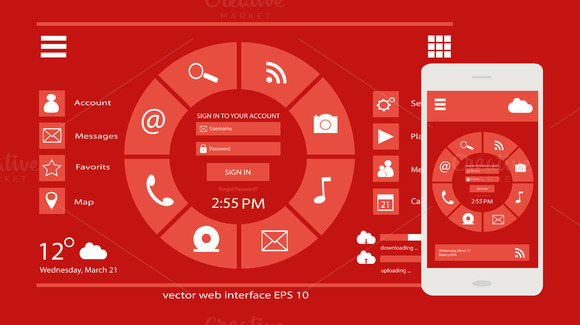 User Interface Web And Mobile Design