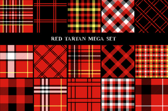 Red Black And White Tartan Patterns