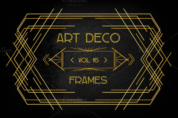 Stock graphic art deco elements vol 16 for Deco 5 elements