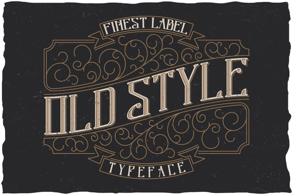font - old style label typeface  u00bb designtube