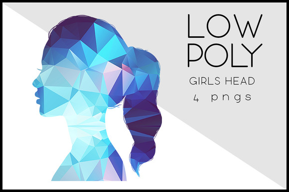 Low Poly Girls Head