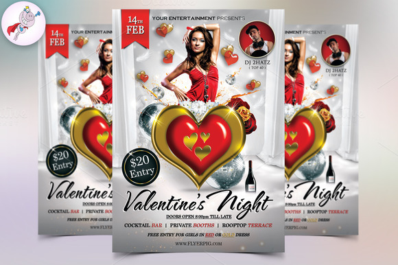 Valentine's Night Flyer Template