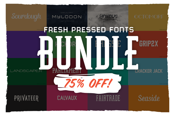 Fresh Pressed Fonts Bundle-75% OFF