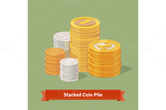 Stacked Pile Of Coins