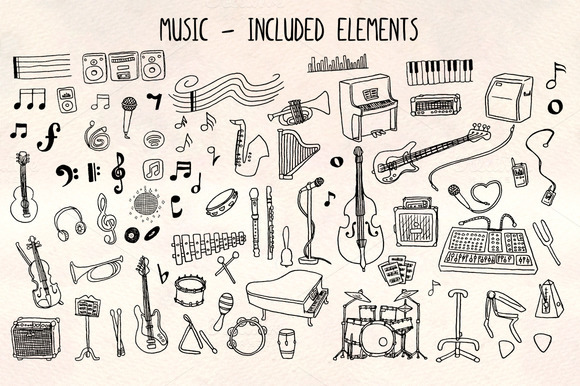 70 Musical Vector Graphics Kit