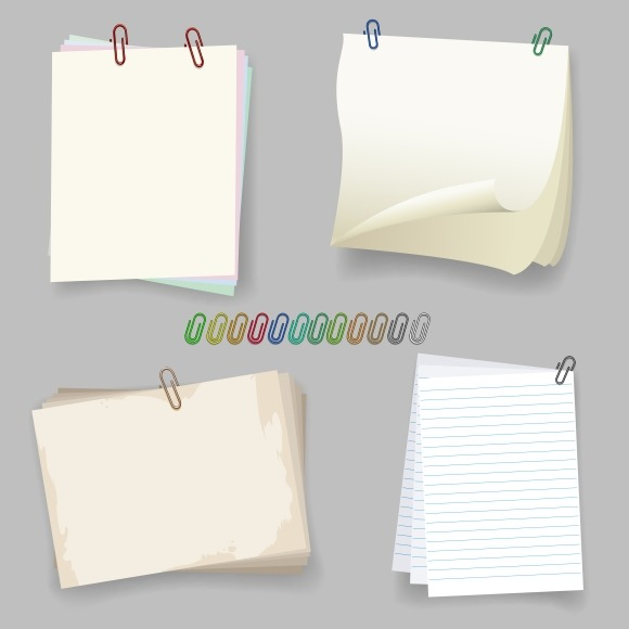 Sheets With Paper Clip