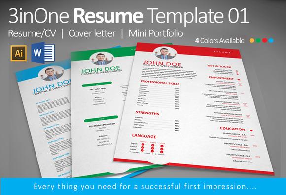 3inOne Resume Template 01