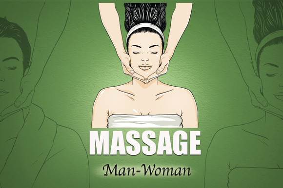 Massage Vector Man Woman