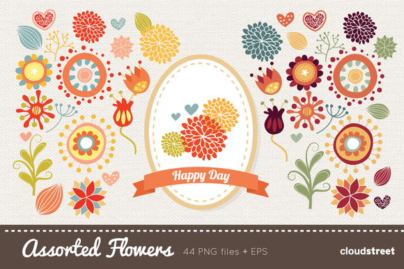 Assorted Flowers Clipart
