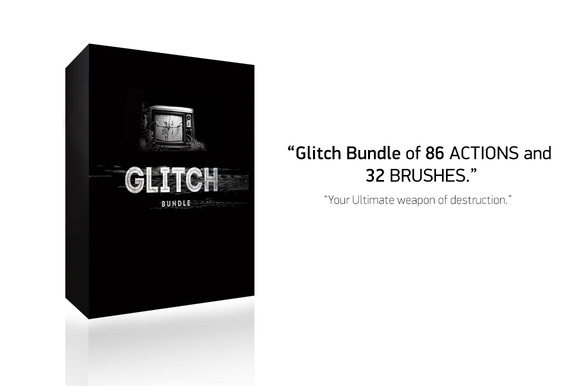 Glitch Bundle 86 Actions 32 Brush