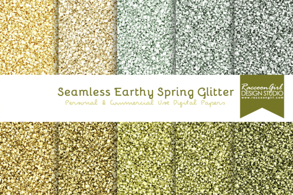 Seamless Earthy Spring Glitter