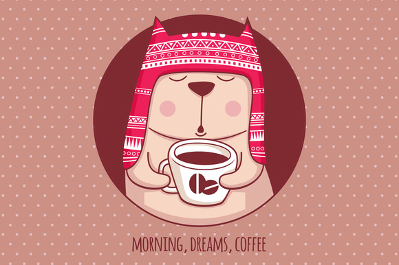 Illustration Morning Dreams Coffee
