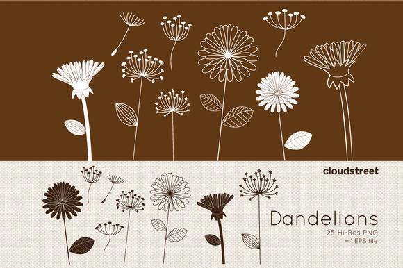 Dandelions Clipart