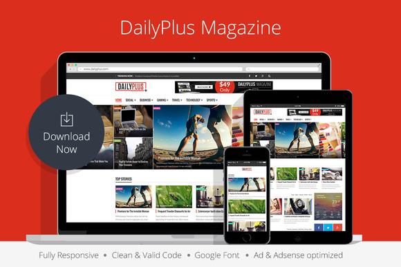 DailyPlus News WordPress Theme