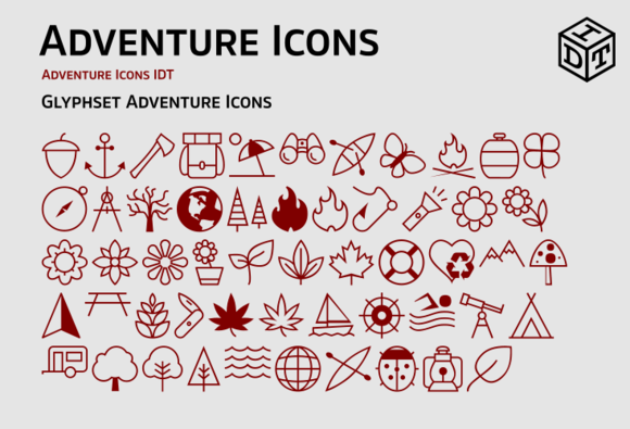 Adventure Icons Web Font